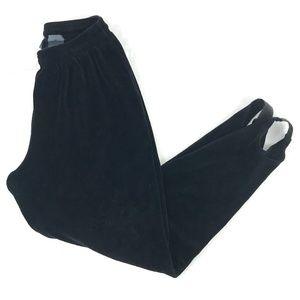 Vintage 80's LizWear Black Velour Stirrup Pants M